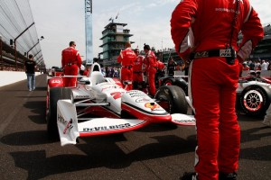 Simon Pagenaud's car on the grid.