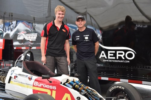 Driver Anthony Martin (left) and team owner John Cummiskey (right), both rookies in the ultra competitive Cooper Tires USF2000 powered by Mazda series made quite a first impression.