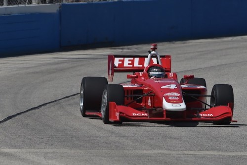 Felix Serralles drives the Mazda powered No. 4 Belardi Auto Racing IL-15 to his first Indy Lights presented by Cooper Tire victory on the Milwaukee Mile oval (Photo courtesy of Indianapolis Motor Speedway, LLC Photography)