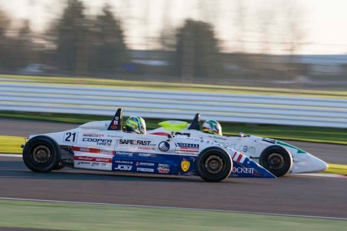 Dakota Dickerson battles for position in the 15th annual Walter Hayes Trophy event at Silverstone.  (photo courtesy of Team USA Scholarship)