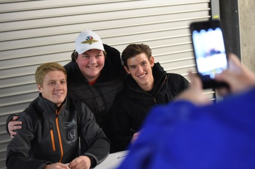 Fans mingled with Verizon IndyCar Series drivers and other dignitaries before the big moment at midnight. (Photo Courtesy of IndyCar - Chris Owens)