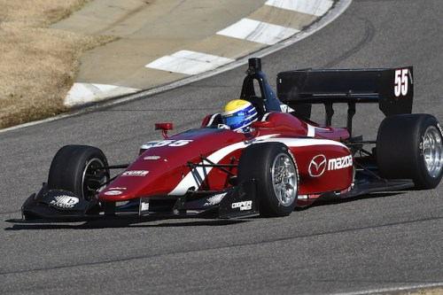 Schmidt Peterson Motorsports with Curb-Agajanian rookie Santiago Urrutia will be looking to extend their championship lead as the series heads to Watkins Glen International  (Photo courtesy of Indianapolis Motor Speedway, LLC Photography)