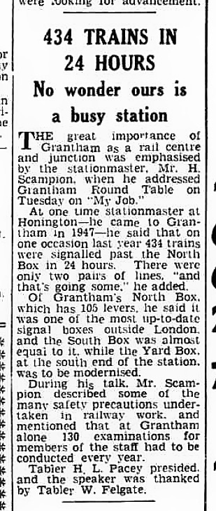 The Grantham Journal 15th January 1954, page 1 From The British Newspaper Archive Image © THE BRITISH LIBRARY BOARD. ALL RIGHTS RESERVED.