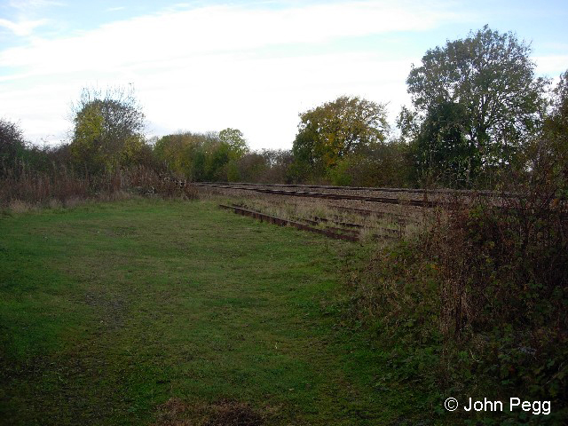 The location of Belvoir Junction near Muston, looking along the line of the branch as it converged with the Grantham to Nottingham line on the right.