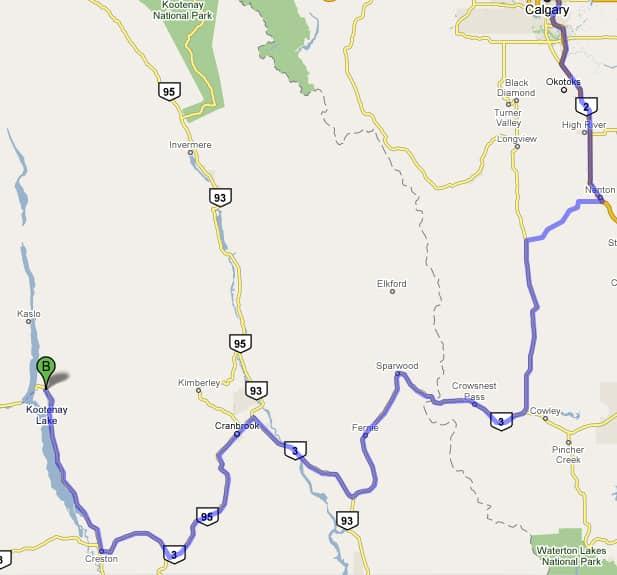 2008 Chrysler Aspen Review road trip map