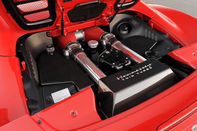 Hennessey-twin-turbo-Ferrari-458-engine
