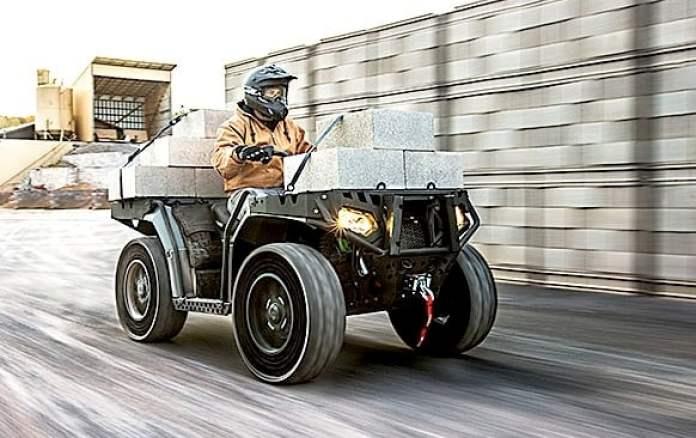 Polaris Sportsman WV850 H.O. ATV rolling