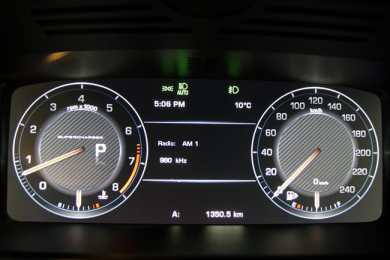 2014 Range Rover Supercharged Review gauges
