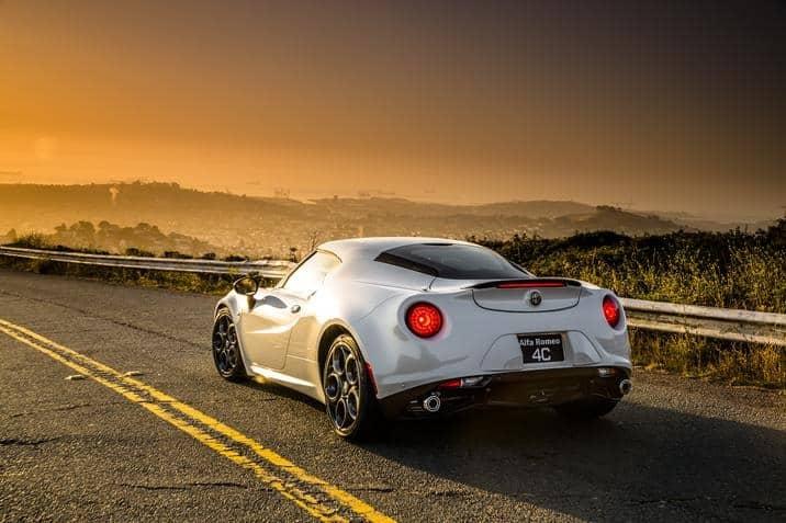 2015 Alfa Romeo 4C Coupe rear white