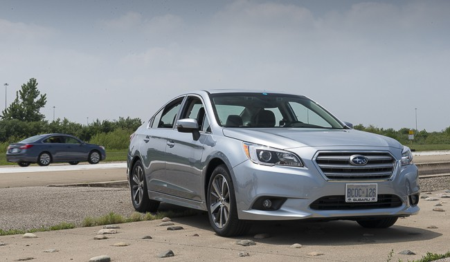 2015 Subaru Legacy review front view