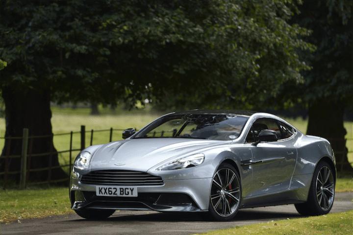 2015 Aston Martin Vanquish profile front silver