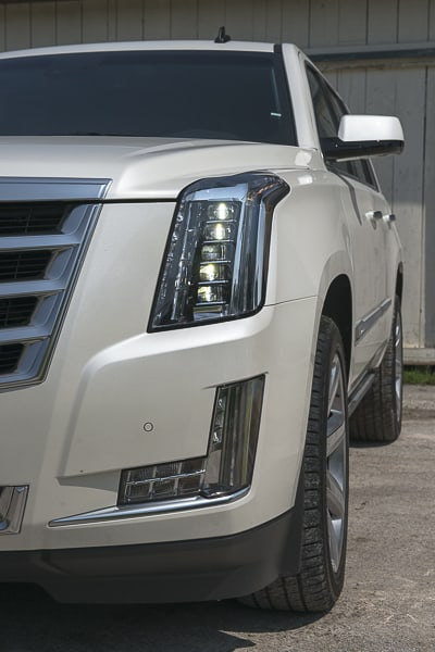 2015 Cadillac Escalade Review headlight