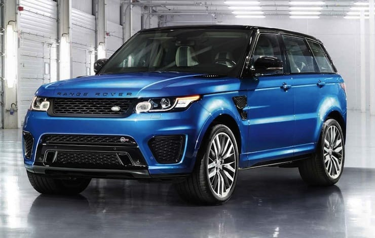 2015 Range Rover Sport SVR front view