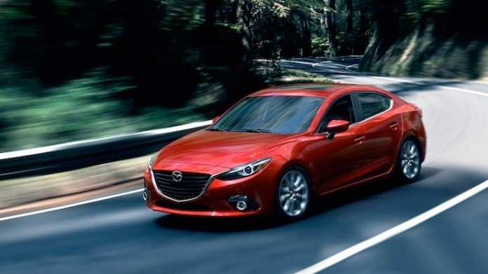 2015 Mazda3 Sport GT Review front red