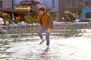 Marty McFly - Not riding the Lexus Hoverboard in the future.