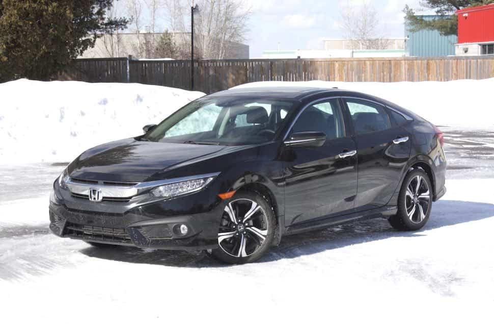 2016 Honda Civic touring review black