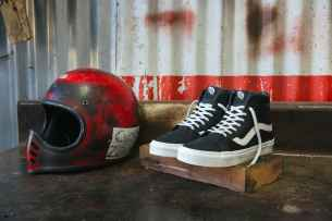Vans Moto Leather Classics hi top sk8