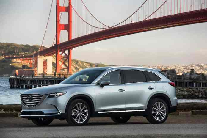 2017 mazda cx-9 review side view silver