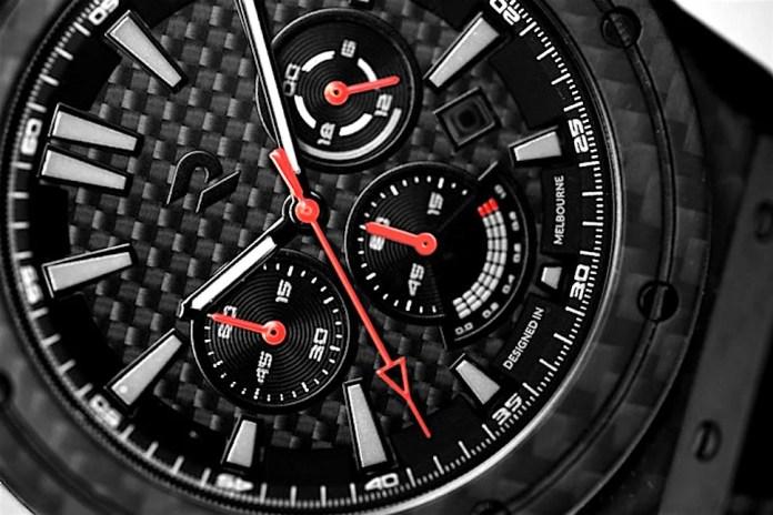 Carbon Renegade Carbon Fiber Watch face