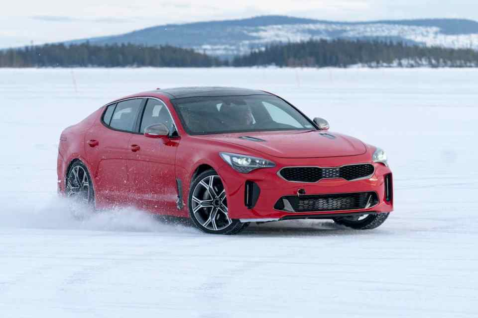 2018 kia stinger gt winter driving