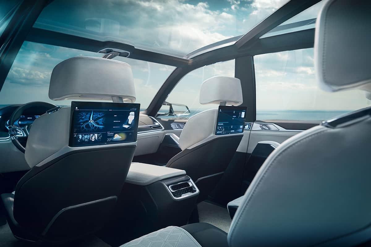 BMW X7 iPerformance concept rear cabin