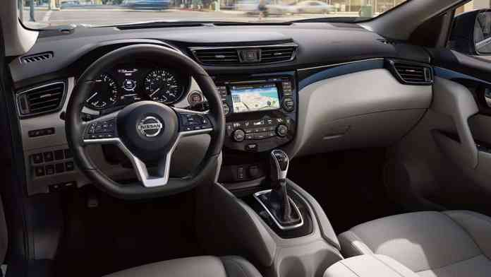 2017-nissan-rogue-sport-review-leather-wrapped-steering-wheel
