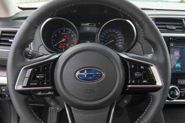 2018 Subaru Legacy Review steering wheel