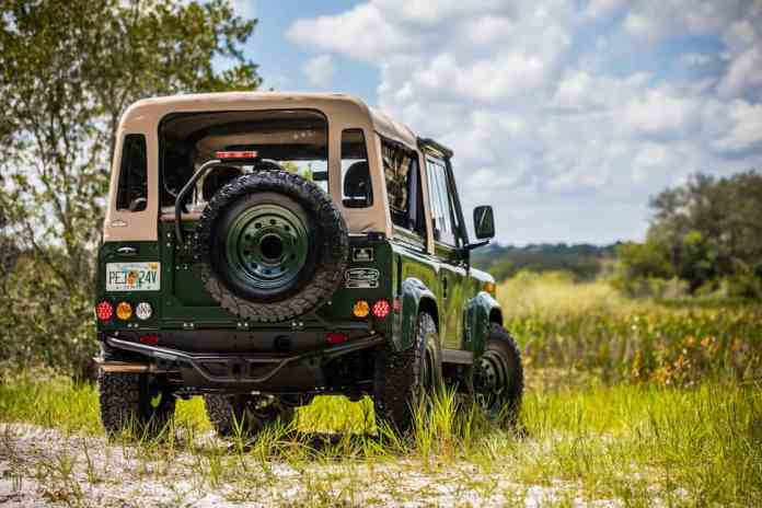 Project Barbour Heritage Edition Defender 90 rear