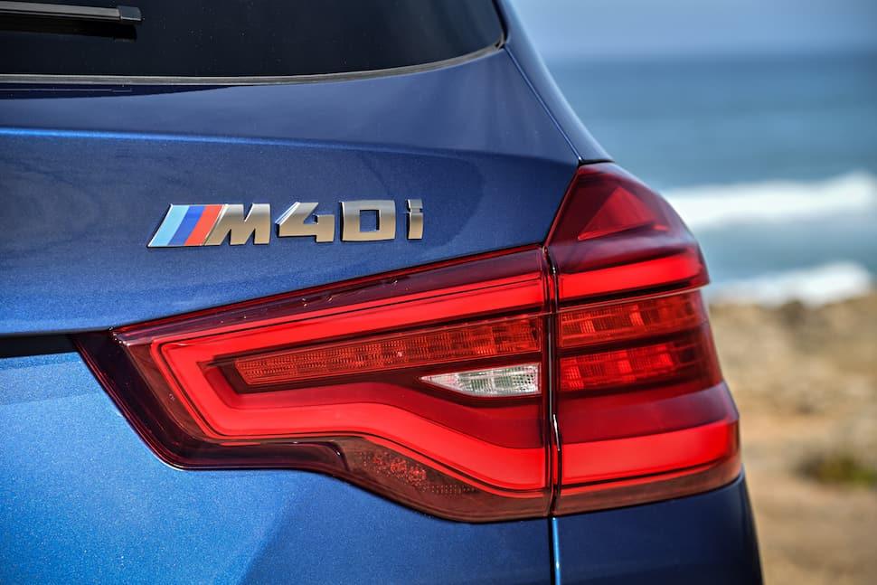 all-new 2018 bmw x3 m40i m performance rear badge
