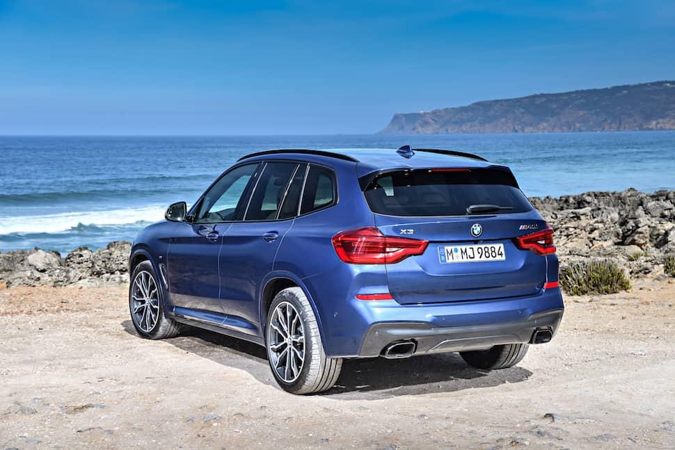all-new 2018 bmw x3 m40i m performance rear view