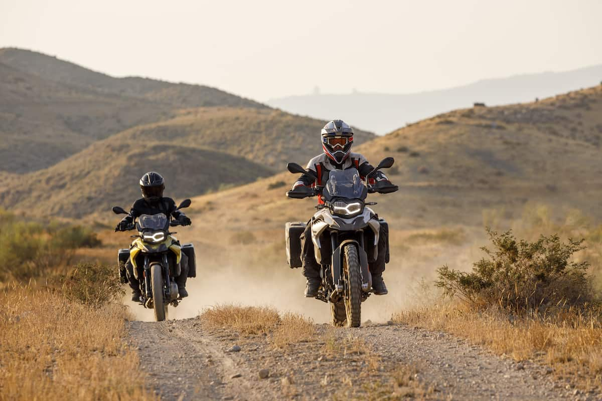 2018 F 750 GS and F 850 GS riding front view