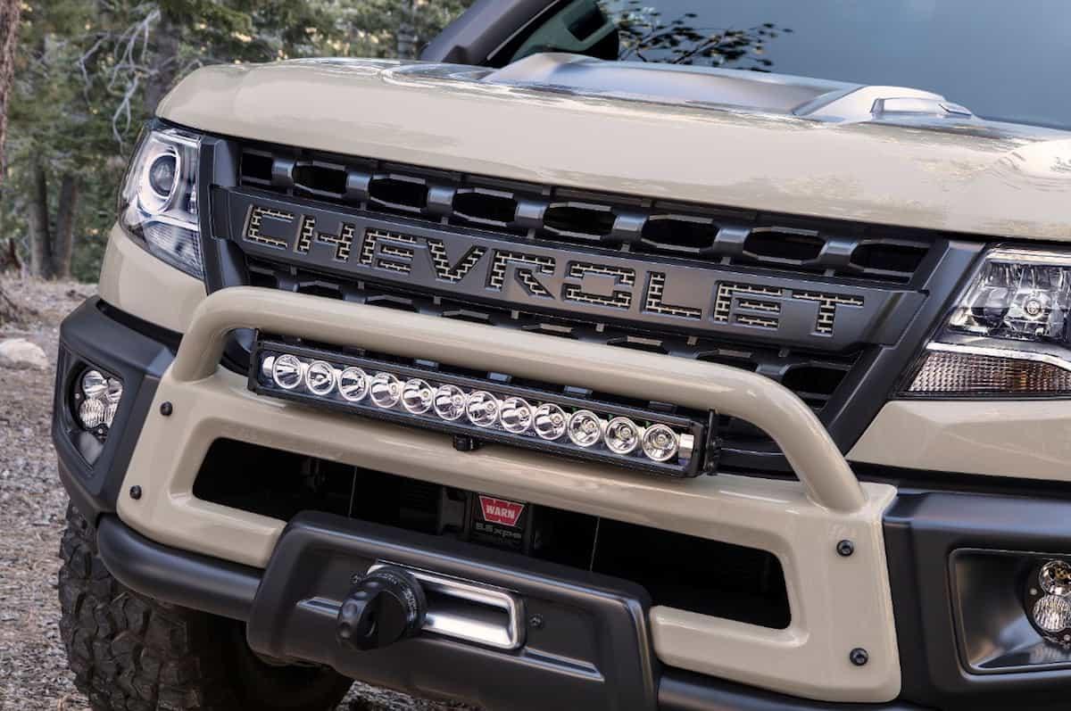 Colorado ZR2 AEV Concept sema 2017 grill