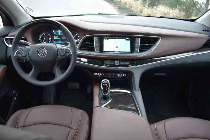 2018 Buick Enclave First Drive Review front cabin