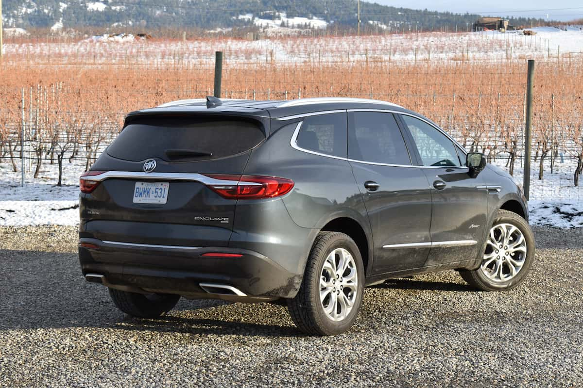 2018 Buick Enclave First Drive Review rear view side angle