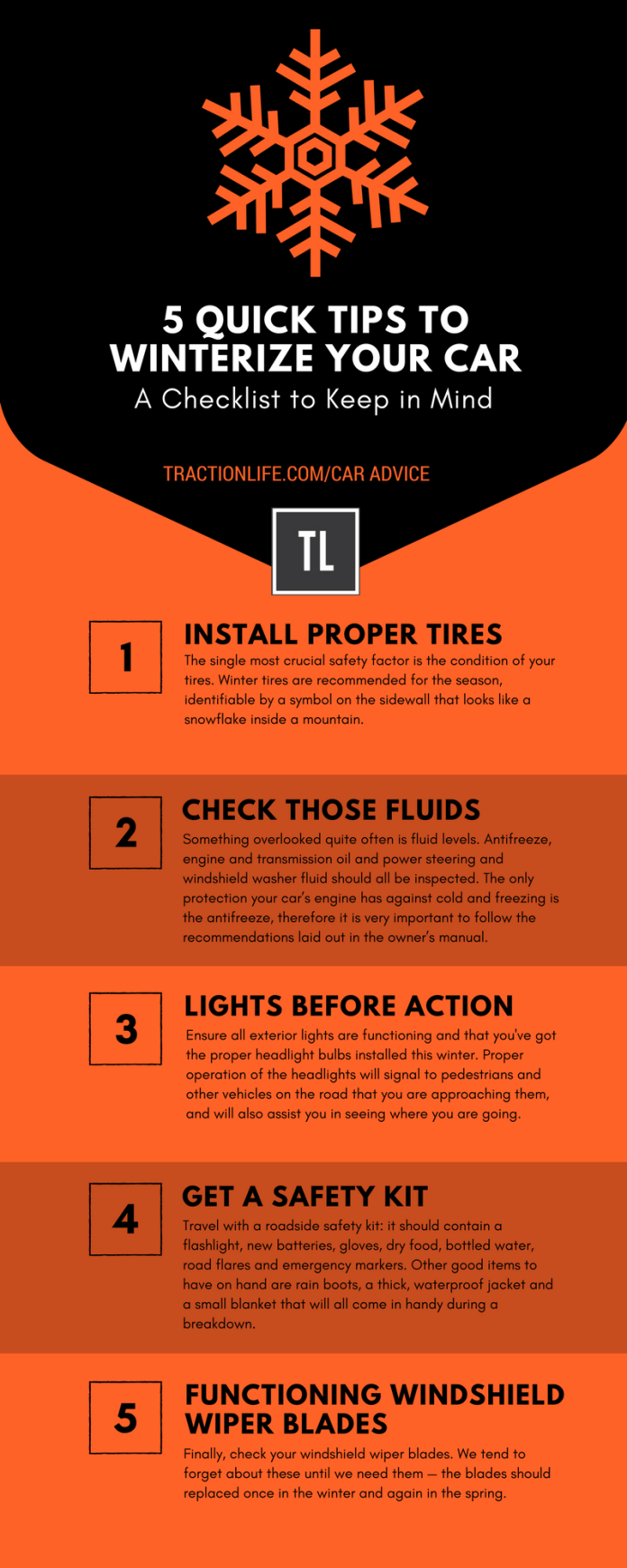 5 QUICK TIPS TO WINTERIZE YOUR CAR