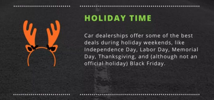 best time to buy a new car holiday season