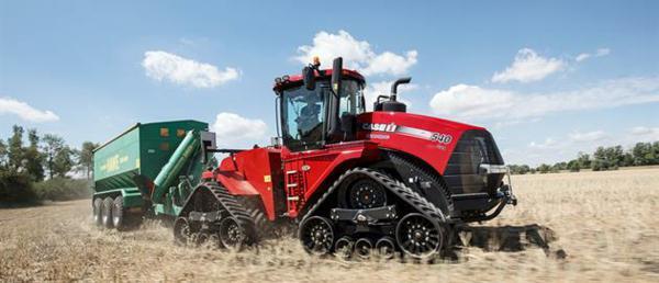 Tractor Articulado Case con ruedas de oruga