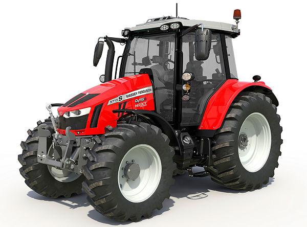 Tractor de media potencia, marca Massey Ferguson
