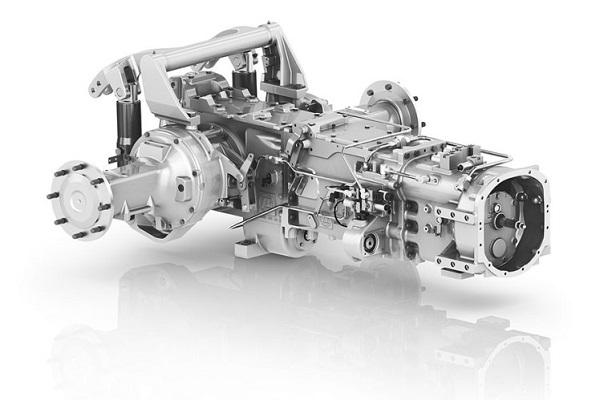 Bloque de fundición modular con las transmisiones de un tractor. Fuente: ZF