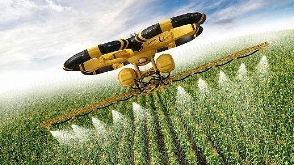 Dron aplicando fitosanitarios, SmartFlight (empresa aplicadora)