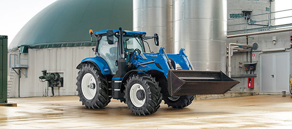New Holland T6.180 Methane Power con Pala