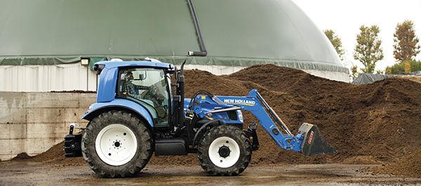 Tractor de metano con pala