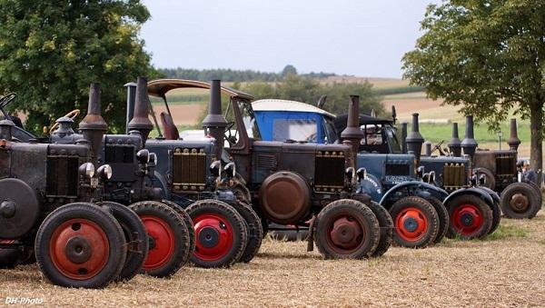 Concentración de tractores Lanz en Leipzig