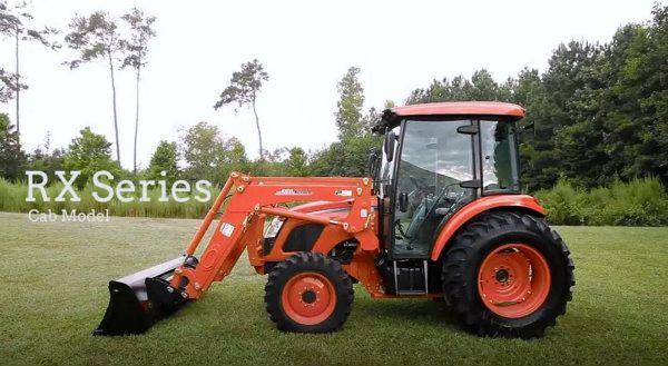 Tractor Kioti con cabina de la serie RX