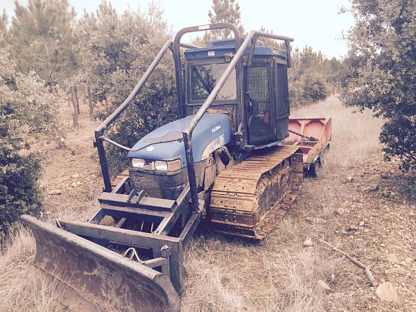 Tractor forestal de orugas