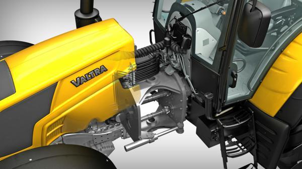 Articulación de un tractor Valtra