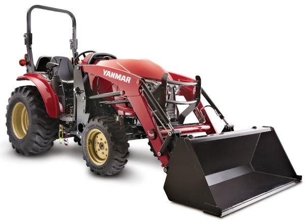 Tractor Yanmar con pala. Modelo YT235