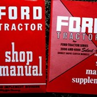 1955 1956 1957 1958 1959 1960 FORD TRACTOR REPAIR SHOP & SERVICE MANUAL & 1962 1963 1964 SELECT-O-SPEED TRANSMISSION MANUAL For 2000 4000 Series