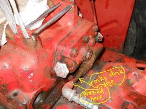 Intl 434  funky hydraulic line  Farmall & International