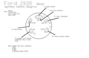 2600 Ford  Ingnition Switch Diagram  TractorShed